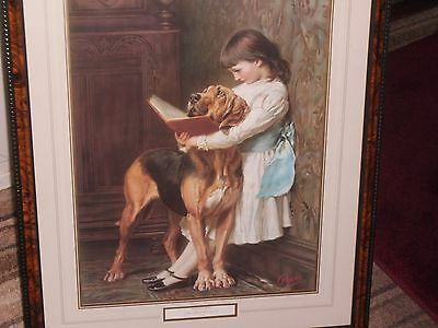 """A Victorian Scene Called """" Naughty Boy """" By Britton Riviere 1840-1920 A Print"""