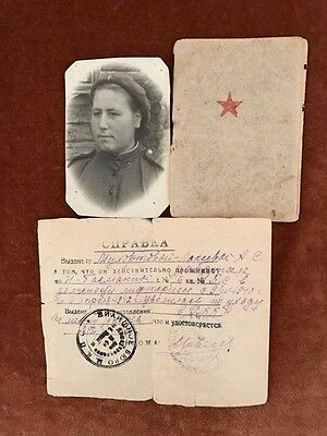 Ww2  Russian Red Army Soldiers Id Paybook, Soldbuch With The Photo &certificate.