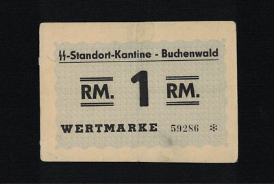 WWII GERMANY (1937-1945) BUCHENWALD 1 Reichsmark XF CONCENTRATION CAMP GHETTO