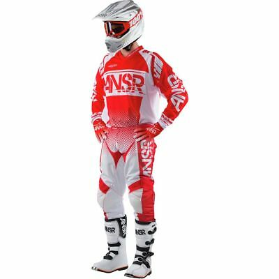 Answer Syncron White/Red Jersey & Pant Combo Set Motocross A17 Off Road Gear