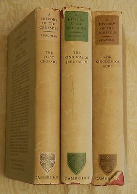 Set of 3 Vintage Books,A History of The Crusades By Steven Runciman, 1954
