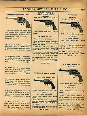 1937 ADVERTISEMENT Colt's Winchester Revolvers US Army POlice Smith & Wesson