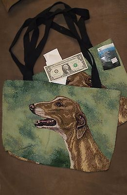 GreyhoundTapestry Tote by Linda Pickens