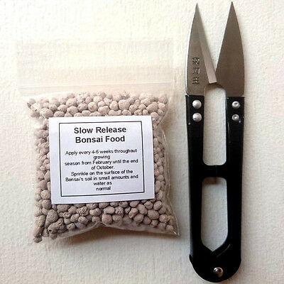 Bonsai tree scissors and food ,mini tree trimming tool with slow release food