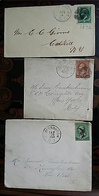 3 Scott#158,210,213 ON COVER  US STAMPS COLLECTION USE PHOTOS FOR DISCRIPTION #2
