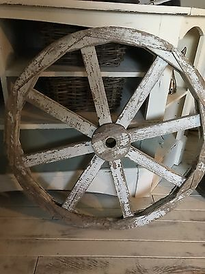 Wooden Wagon Wheel Decor Garden and Home Wood Vintage