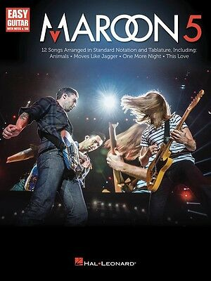 Maroon 5 - Easy Guitar Music Book with Notes & Tab