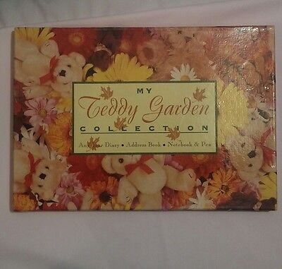 Vintage 1996 - My Teddy Garden Collection Diary, Address Book, Notebook & Pen