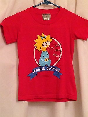 Vintage Simpsons Red Short Sleeve Maggie Simpson T-Shirt 4T