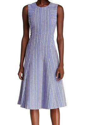 Anne Klein NEW Chicory Blue White Womens Size 6 A-Line Sheath Dress $139 039