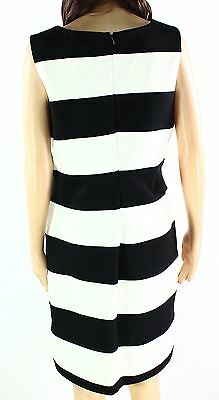 Calvin Klein NEW Black White Womens Size 12 Striped Sheath Dress$119- 024