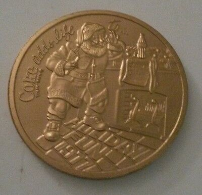 1977 World Wide Mint Coca-Cola gold-plated copper art round - NOT SILVER!!!!