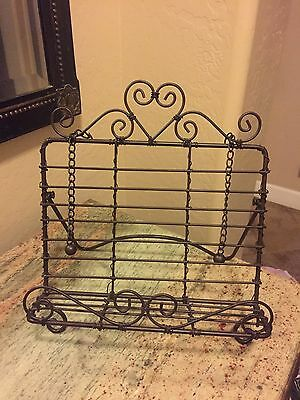 Iron Cookbook Stand ~ Book Holder Easel Display Easels Home Décor Garden