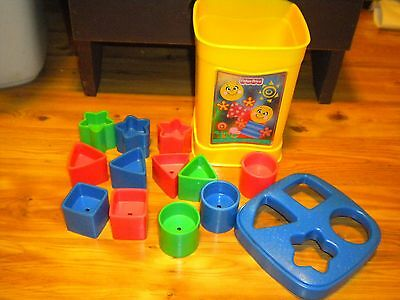 Fisher Price Shape Sorter 4 Shapes 3 Colors