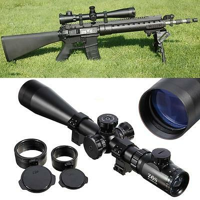 Tactical 6-24x50 Rifle Scope ESF Mil Dot IR illuminated Reticle Hunting w/ Mount