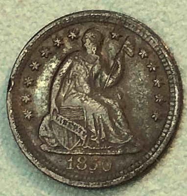 1850 o Seated Half Dime Sharp Better Date Nice FREE SHIPPING