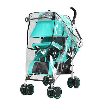 1x Universal Baby Stroller Pram Rain Cover Pushchair Wind Shield Transparent k