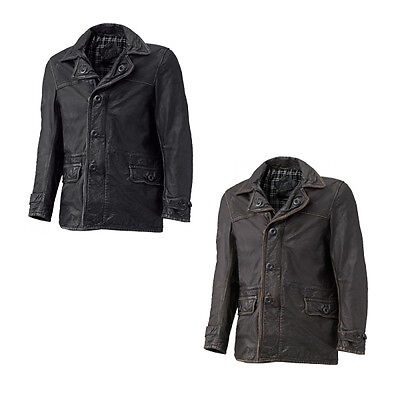 Held Tribute Motorcycle Motorbike Mens Retro Leather Coat All Colours & Sizes