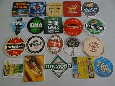 20 x MIXED COLLECTABLE BEER/CIDER COASTERS/MATS HC1