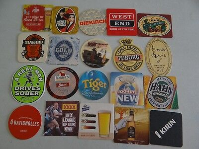20 x MIXED COLLECTABLE BEER COASTERS/MATS HC3