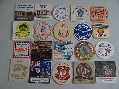 20 x MIXED COLLECTABLE BEER COASTERS/MATS HC10