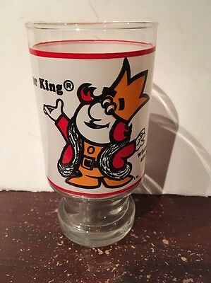Vintage Burger King Drink Glass 1970's Promotional Where Kids are King