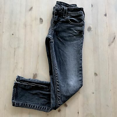 Girls True Religion Moto Distressed Skinny Jeans Size 10 Gwen Black