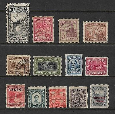 LATIN AMERICA - mixed collection No.3, early, Honduras Colombia Mexico + more