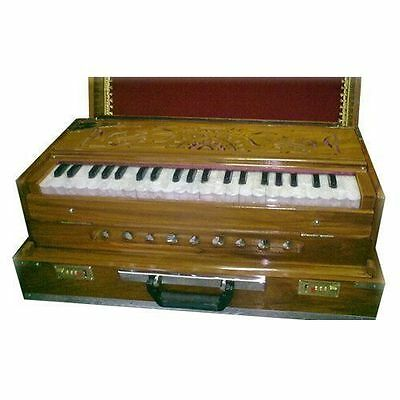 Lovely Design  Musical Depot Portable Harmonium Two Set Reeds Playing Octave