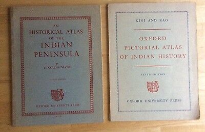 lot of 2 *HISTORICAL ATLAS' OF THE INDIAN PENINSULA* 1963 Oxford Press