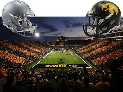 2 IOWA HAWKEYES vs OHIO STATE BUCKEYES 11/4 - SECTION 130 - ROW 16 - AISLE!!!