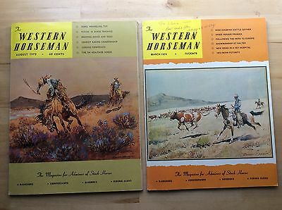 lot of 2 *WESTERN HORSEMAN* 1972 magazine for admirers of stock horses