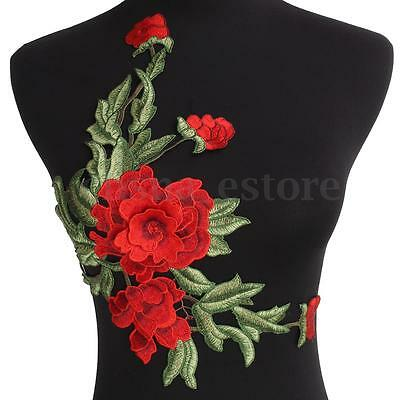 Flores Bordado Remiendo Apliques Parches de Encaje 3D Paño Sew On Embroidery DIY