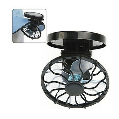 Portable Mini Clip-on Solar FanOutdoor Sun Powered Panel Black Cooling Cell Fan