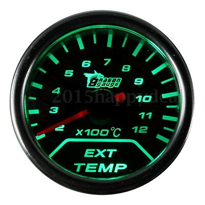 "Universal 2"" 52mm EGT Exhaust Gas Temperature Temp Gauge colors change Sensor UK"