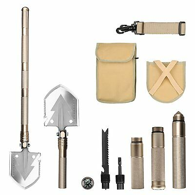 FSDUALWIN High Strength Military Folding Shovel with Carrying Pouch, Tactical /