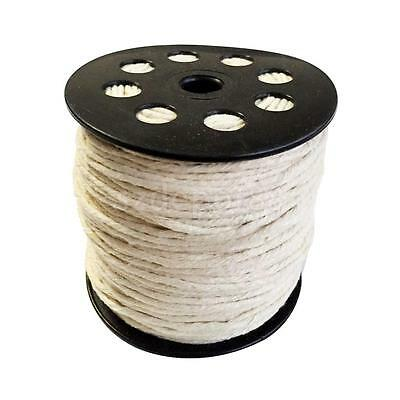 100 Meters Cotton Rope Braided Twisted String Cord Twine Sash 2mm for Crafts