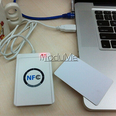 NEW USB ACR122u NFC Reader&Writer 13.56Mhz RFID Copier Duplicator For iPhone M
