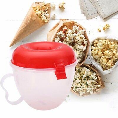 Microwave Popcorn Maker Serving Bowl Machine Pop Corn Cooker Gadget Home Kitchen