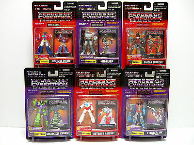 Transformers Heroes of Cybertron wave 5 complete 6 figures G1 new 2003