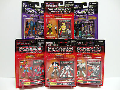Transformers Heroes of Cybertron wave 4 complete 6 figures G1 new 2003