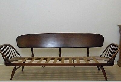 Quality Vintage Retro Mid Century Elm And Beech Ercol Sofa/daybed