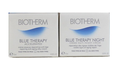Biotherm Blue Therapy Accelerated Moistusier 15ml & Night Cream 15ml