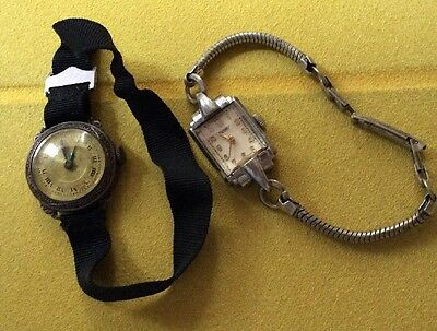Antique Watches Ladies Silver Job Lot