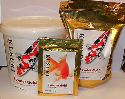 KUSURI POWDER GOLD Blanket Weed ERADICATOR. 150g, 1kg, 3kg and 8kg. Koi Pond