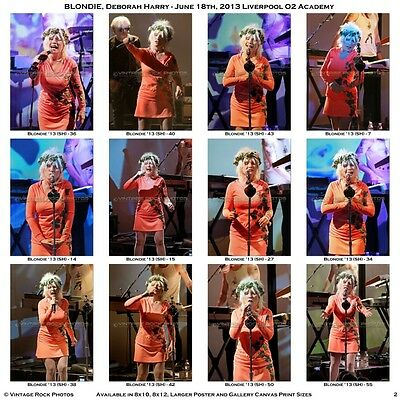 Deborah Harry Blondie Photos 4x6 in Set of 36 Prints 2013 Liverpool Academy UK 2