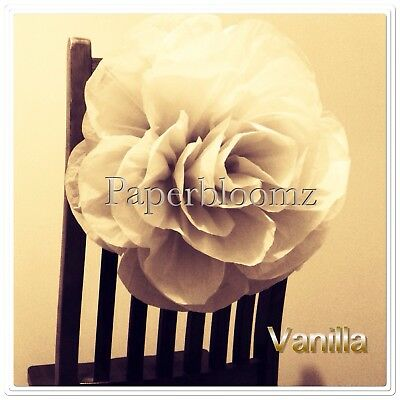 Paperbloomz Large Paper Roses x 5 Bulk Tissue Paper Flowers Wall Decorations