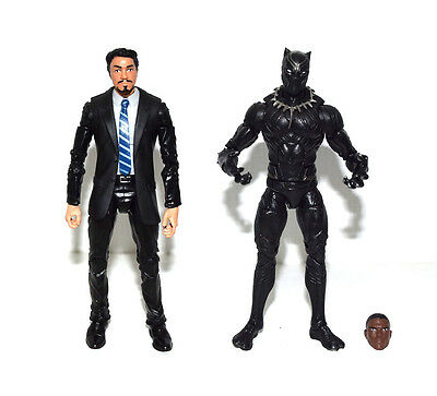 Marvel Legends Iron Man Tony Stark in Coulson Black Suit Black Panther Figure