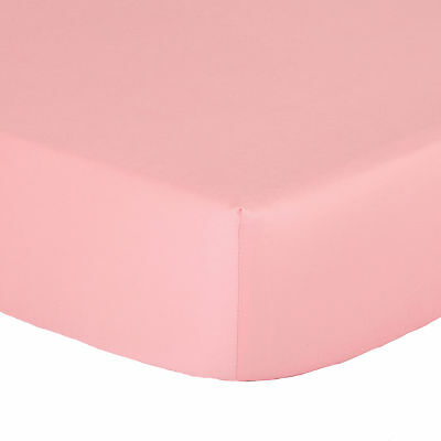 Coral Fitted Crib Sheet - Solid Toddler Color 100% Cotton Sateen