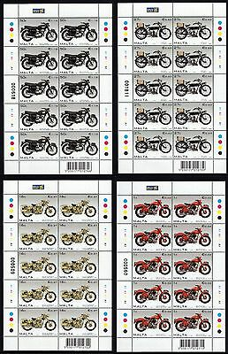 Malta 2007 Motorcycles Sheets Complete Set SG 1553 - 1556 Unmounted Mint